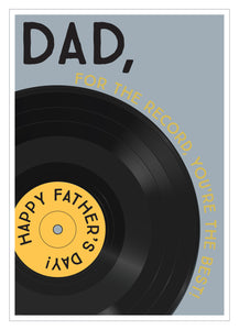Father's Day card for the record you're the best