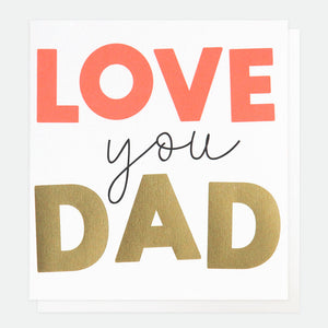 fathers day card love you dad
