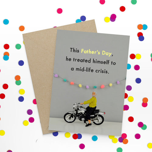 mid life crisis father's day card