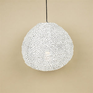 Fairtrade fleck small teardrop shaped material lampshade