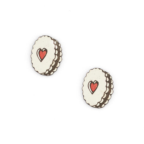 jammie dodger stud earrings