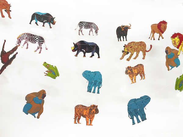 Paper Garland Jungle Animals