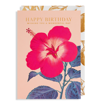 Load image into Gallery viewer, flower happy birthday card