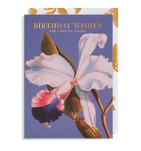 Load image into Gallery viewer, flower and lots of kisses message happy birthday card