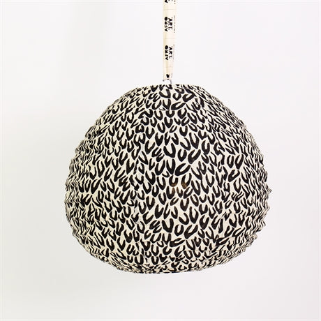 Fairtrade lemongrass brown small teardrop shaped material lampshade