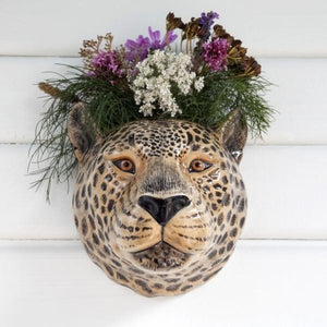 ceramic leopard flower vase for wall mounting