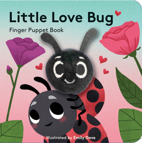 small puppet book featuring a little love bug
