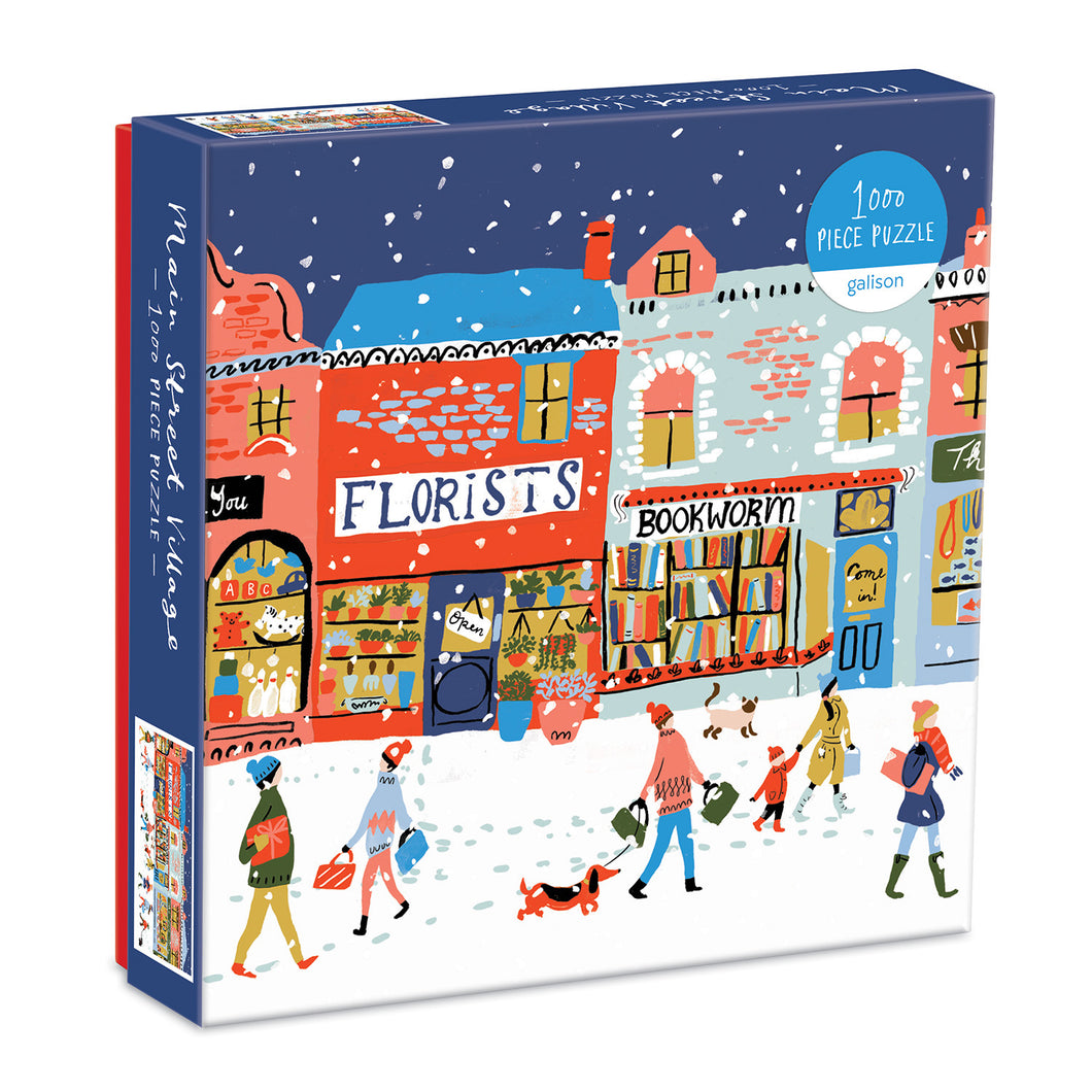1000 piece jigsaw of xmas main street village