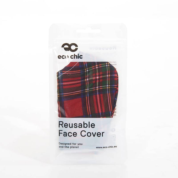 Eco chic Face mask red tartan