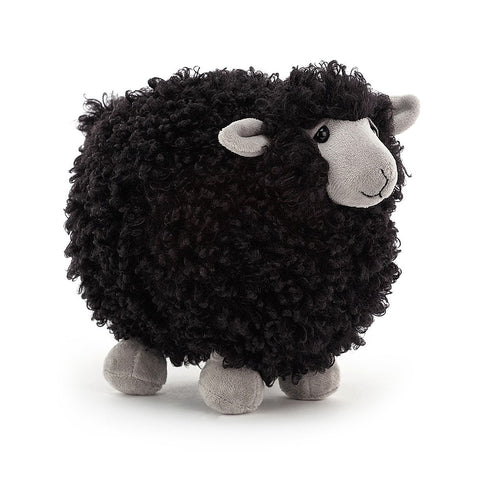 Gorgeous black sheep plush toy by Jellycat. Suitable from birth.