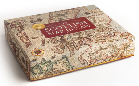 A beautiful jigsaw of the map of scotland