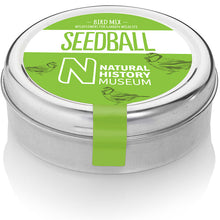 Load image into Gallery viewer, Green seedball label on steel tin