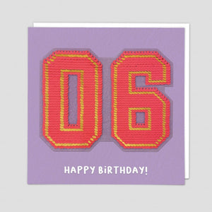 age 6 happy birthday sequin card