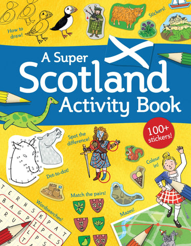 puzzles and activities showing what makes scotland special