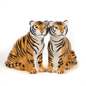 ceramic tiger salt and pepper set