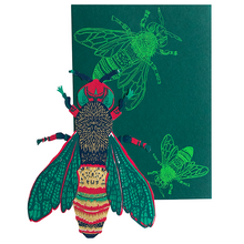 Load image into Gallery viewer, screen printed wasp card with beautiful envelope