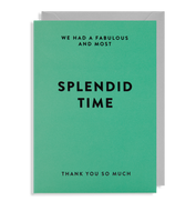 thank you for a splendid time card