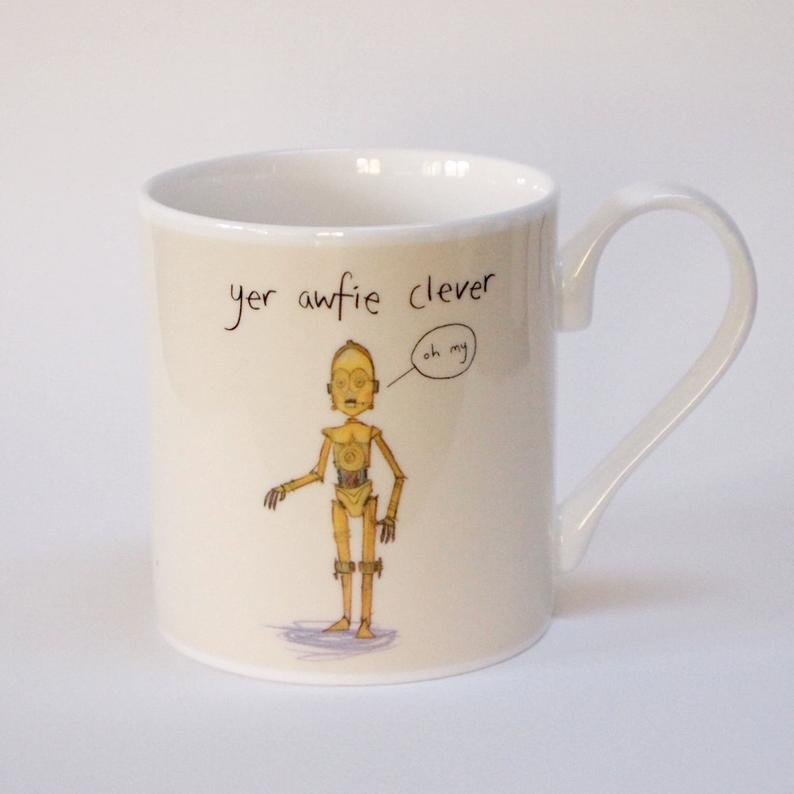 star wars yer awfie clever mug