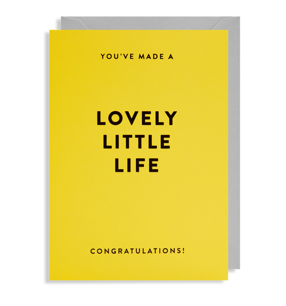 lovely little life baby congratulations card