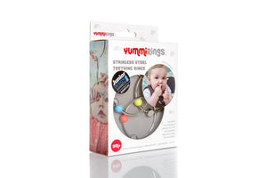 stainless steel rings for teething
