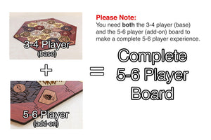 Board for Catan | Hardwood Edition | 5-6 Player Extension