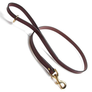 Mendota: 4'  Leather Snap Leash - Chestnut