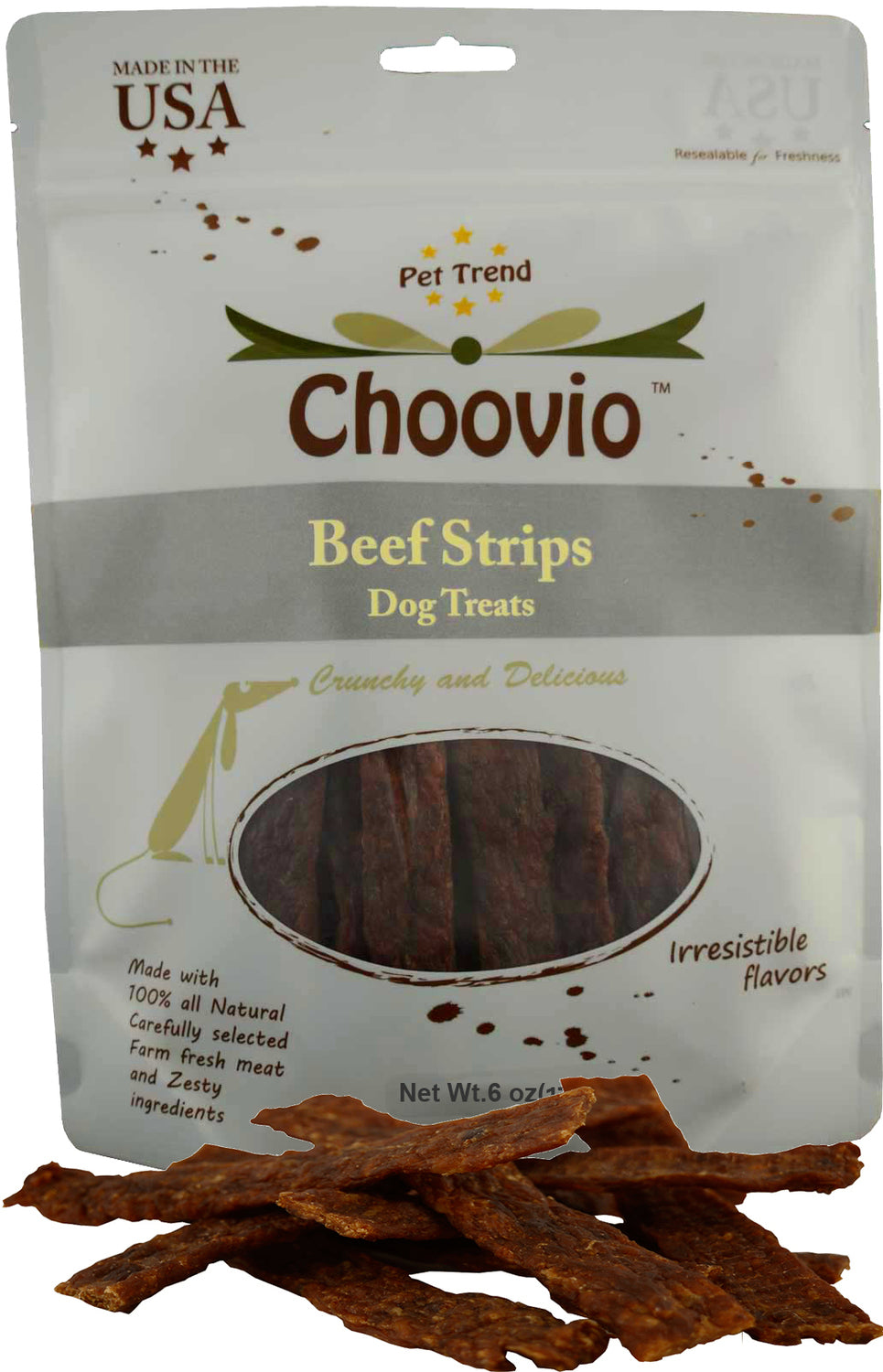 Choovio Beef Strips 5oz