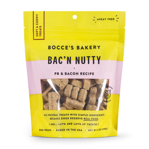 Bocce's Bac'n Nutty Soft & Chewy Treats