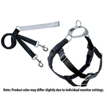 Load image into Gallery viewer, 2Hounds:  Black Freedom No-Pull Dog Harness & Training Leash