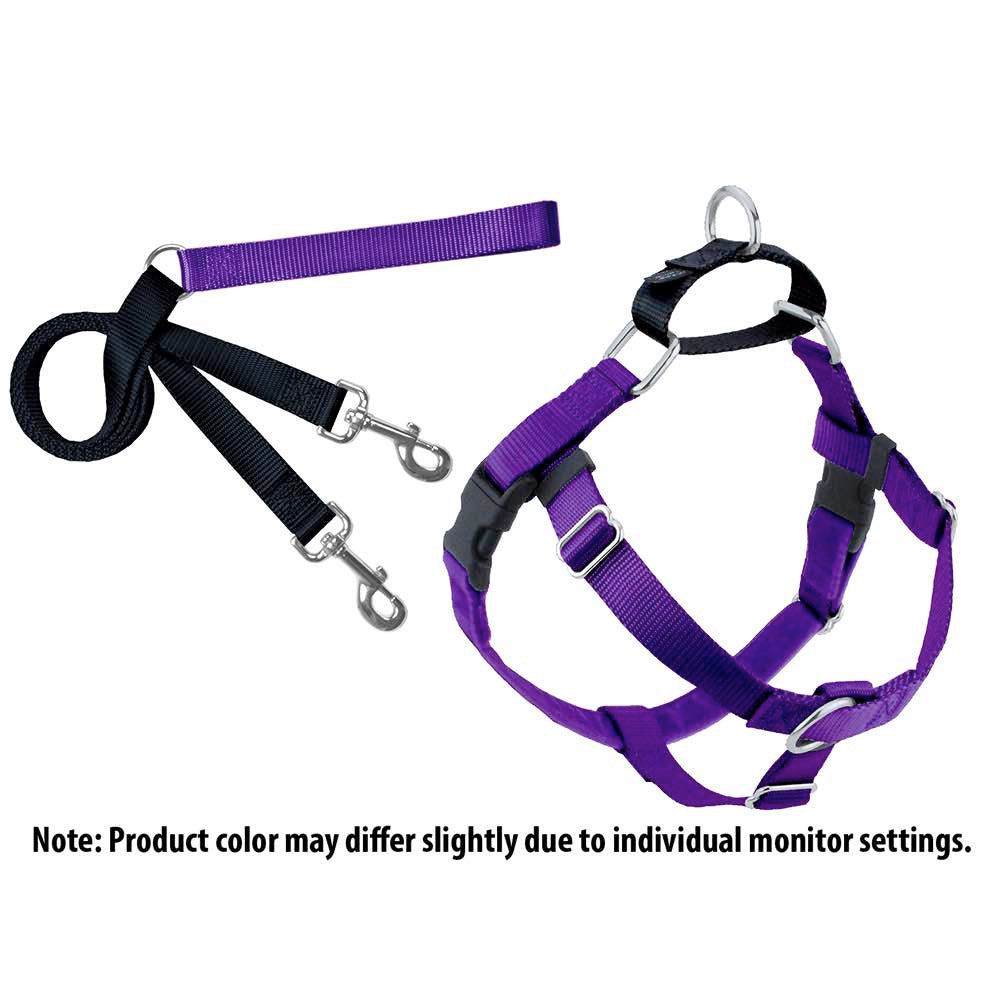 2Hounds: Purple Freedom No-Pull Dog Harness & Training Leash