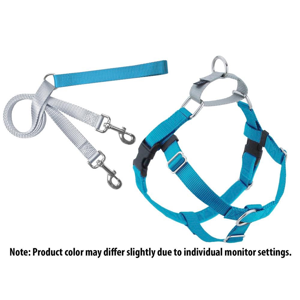 2Hounds:  Turquoise Freedom No-Pull Dog Harness & Training Leash