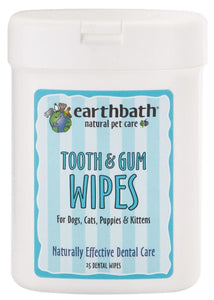 Earthbath: Tooth & Gum Wipes 25ct.