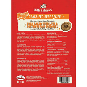 Stella & Chewy's Grass-Fed Beef Raw Coated Biscuits
