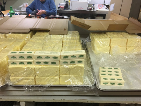 A huge shipment of Kerrygold Irish butter to the Flaherty's kitchen!