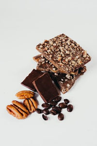 Irish Coffee Toffee - Darker Chocolate & Pecans - 1/2 lb. Box