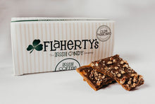 Load image into Gallery viewer, Irish Coffee Toffee - Darker Chocolate & Pecans - 1/2 lb. Box