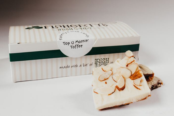 Top O' Mornin' Toffee - White Chocolate & Toasted Almonds