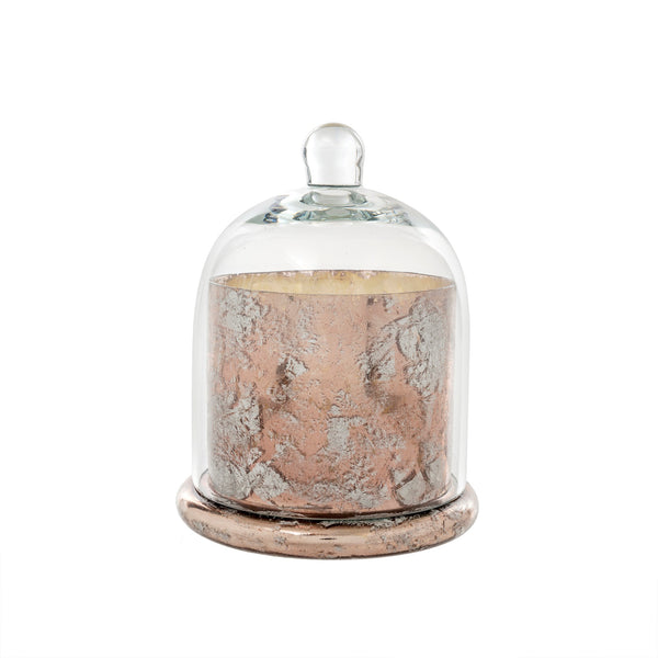 Rose Gold Cloche Candle Lrg