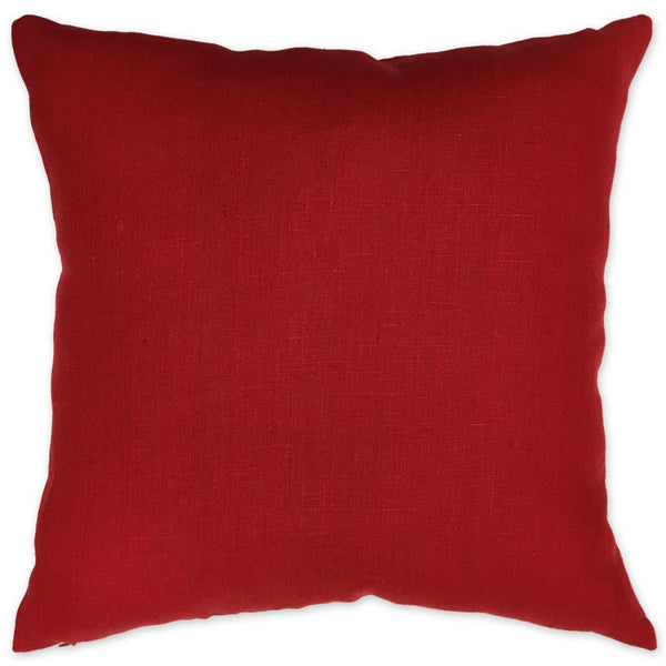 Luxe Linen Pillow Cherry