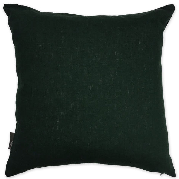 Luxe Linen Pillow Black