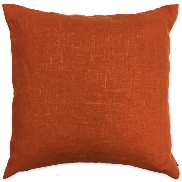 Luxe Linen Pillow Rust