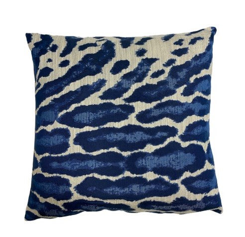 Abstract Indigo Pillow