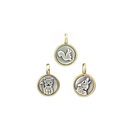 Silver + Bronze Animal Charm