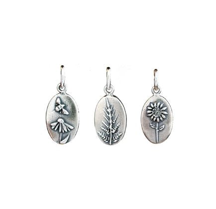 Botanical Oval Silver