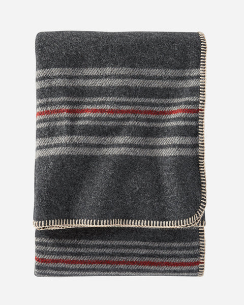 Eco-Wise Charcoal Irving Stripe Throw