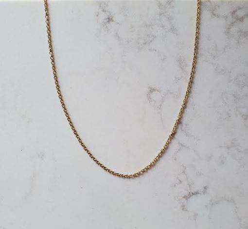 Gold Fine Cable Necklace