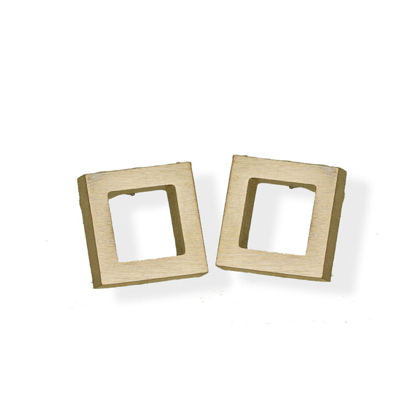 Open Square Earring