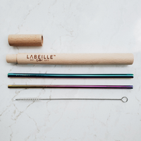 Beechwood Straw Travel Kit - Rainbow