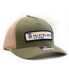 Load image into Gallery viewer, TaleTellers Army Olive/Tan Trucker Hat