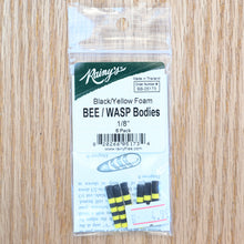Load image into Gallery viewer, Bee/Wasp Foam Bodies - Rainy's - 1/8""